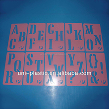 Promotional Cheap Customized stencil plastic , plastic letter stencil ruler