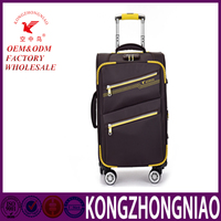new design high quality fabric nylon decent luggage travel bags made in china