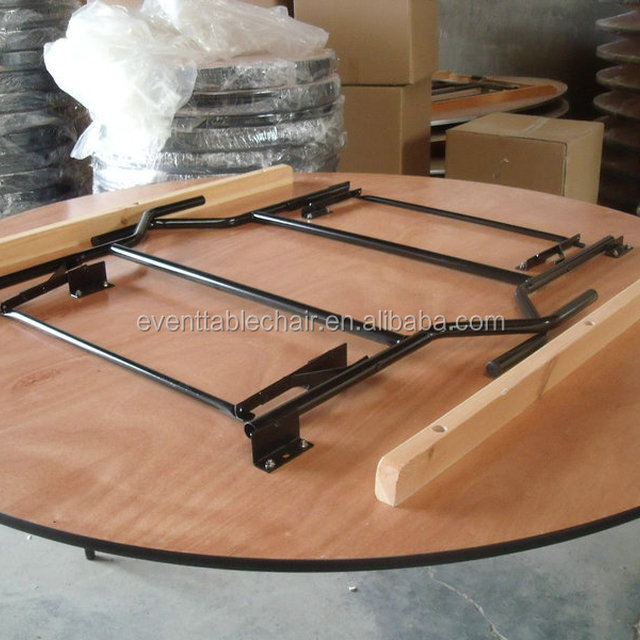 Used Plywood Banquet Round Folding Tables For Sale