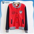 embroidered made mens 100 cotton hoodie fashion chinese college baseball varsity jacket price custom in guangzhou wholesale