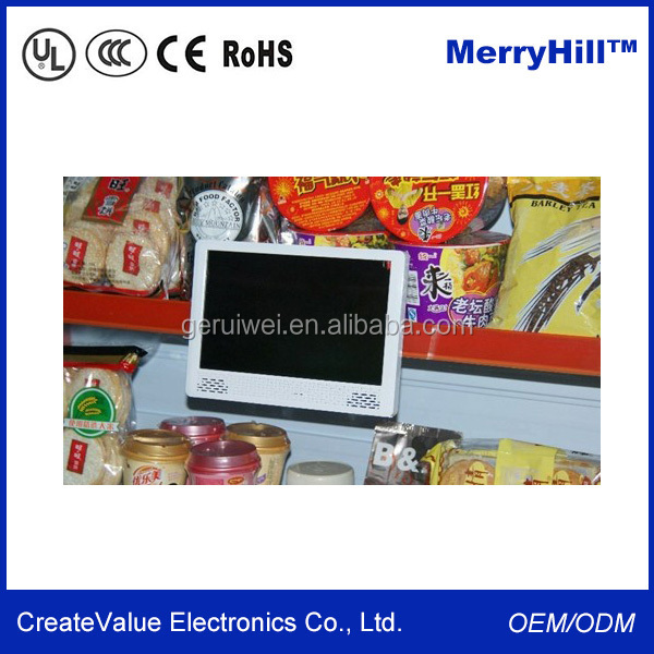 Supermarket Shelf LCD Screen 7/ 10 Inch Motion Activated Advertising Display
