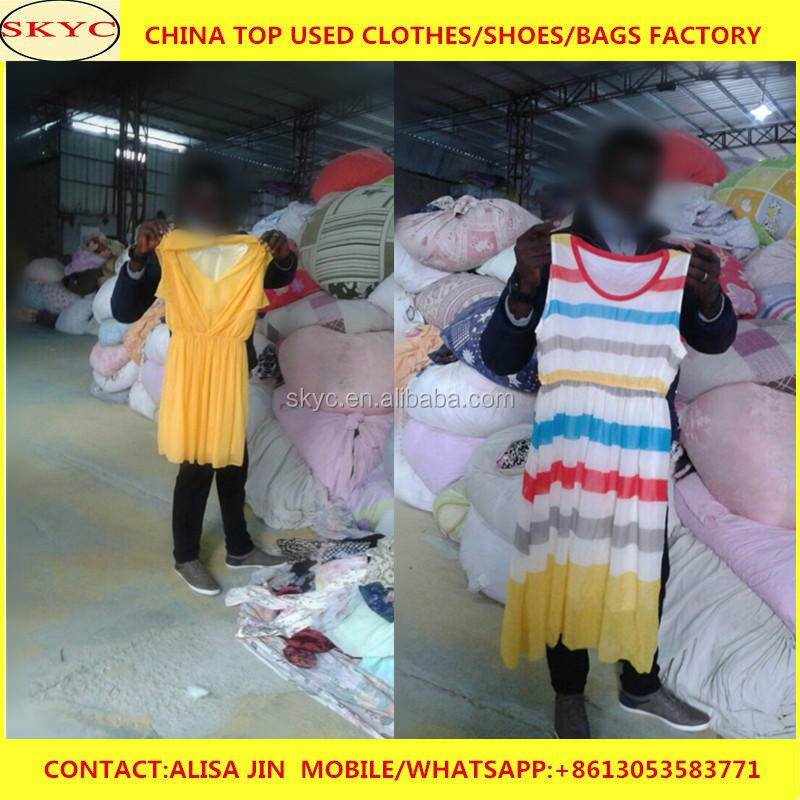 2017 stock used clothes low price in Guangzhou foreign trade of the company export Africa high quality summer used clothing