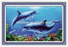 5D Diamond Painting Ocean Dolphin,DIY diamond painting,cute picture for kids