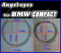 super brightness CCFL E46 without projector angel eye/ccfl e46 compact coupe angel eyes for bmw
