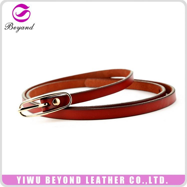 Hot selling unique design leather belt without holes directly sale