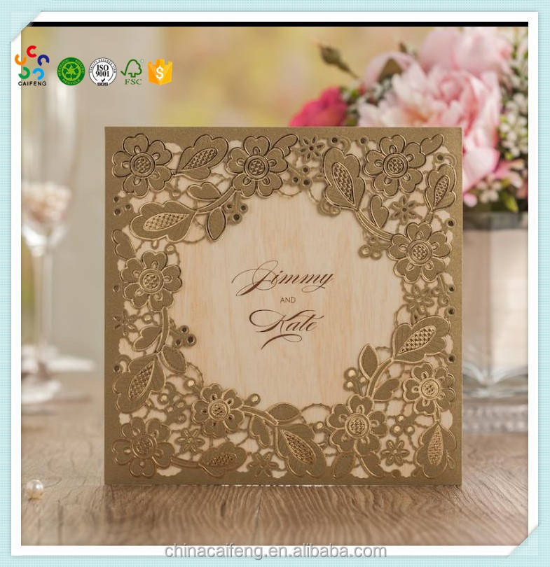custom luxury wedding invitation card