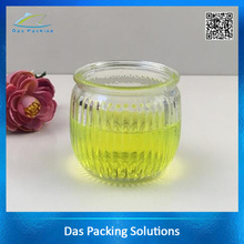 180ml round shaped clear color candle jars glass bottle