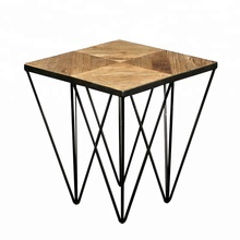 New design solid wood coffee table with metal for living room <strong>furniture</strong>