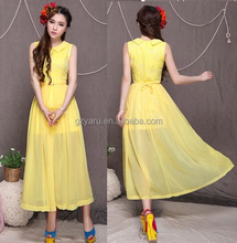 fashion dress with belt back zip manufacture