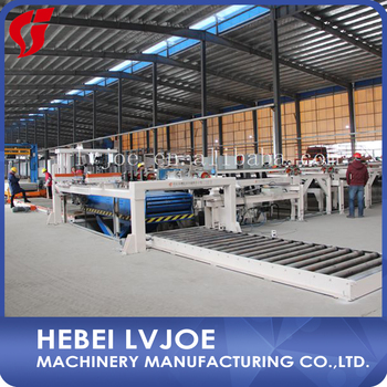 Automaticlly gesso board manufacturing plant