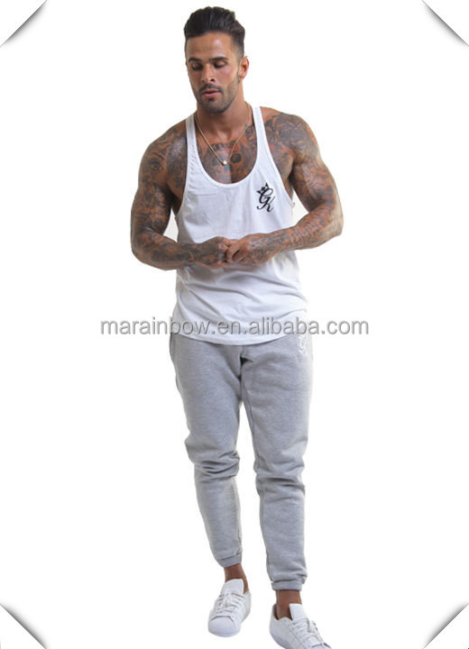 customized grey Gym fitness sports King Tracksuit Bottoms /Joggers mens wholesale sweatpants slim fit with your own design