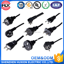 ac power cord 3 pin plug,electric rice cooker power cord,power cord cabl with Europe standard