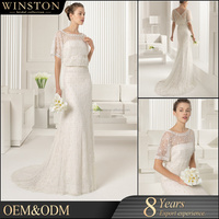 Alibaba New Design Covered Back Mermaid Wedding Dress