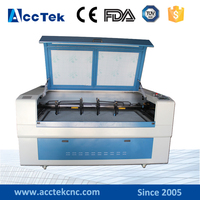 ACCTEK Jinan 3d co2 four head laser glass engraving and cutting machinery 1610