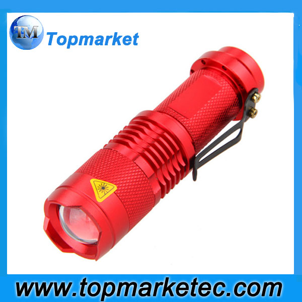 zoom led mini flashlight