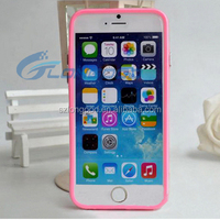 New Candy color clear soft TPU pudding Mobile bumper Phone case for iphone 6