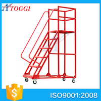 collapsible steel platform step ladder shelf