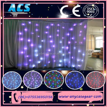 Hot selling Led star curtain decoration led drops wedding / Led Star fiber optic curtain