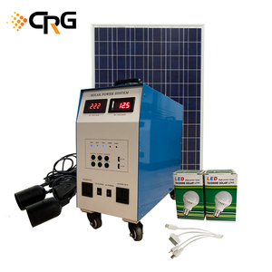 China CRG complete off grid 500W Inverter 12V 50Ah battery Built-in Portable Solar Home Power Generator System