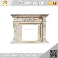 Home decoration cheap marble fireplace