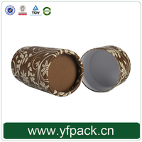 Small Size Rigid Cardboard Coated Paper Lid And Base Round Tube Shape For Skin Oil Or Cosmetics