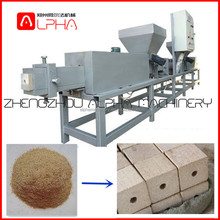 Electric hot press machine wood pallet block production line/sawdust recycling wood pallet feet making machine/pallet block