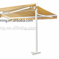 Double Sided retractable awnings pergola with metal frame