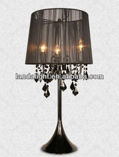 Black Crystal Bead Chandelier Table Lamp
