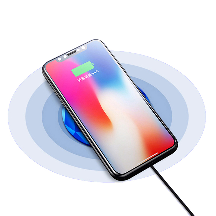 New Design Fast Qi Wireless Charger Stand Charging Pad for Samsung Galaxy a8