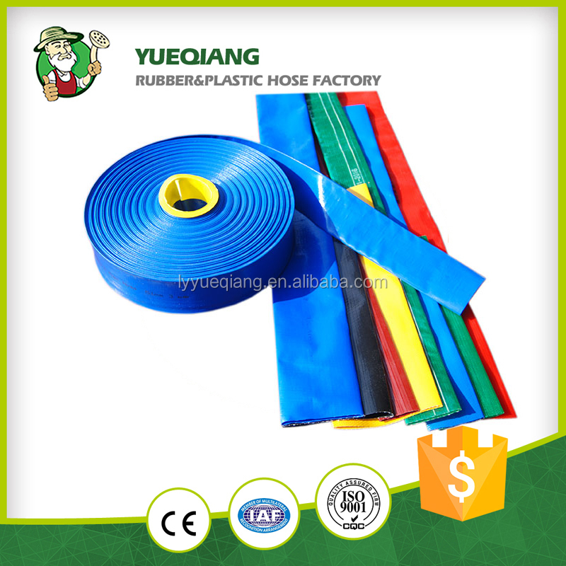 2016 new pvc materia 2 bar 4 inch lay flat hose pipe l