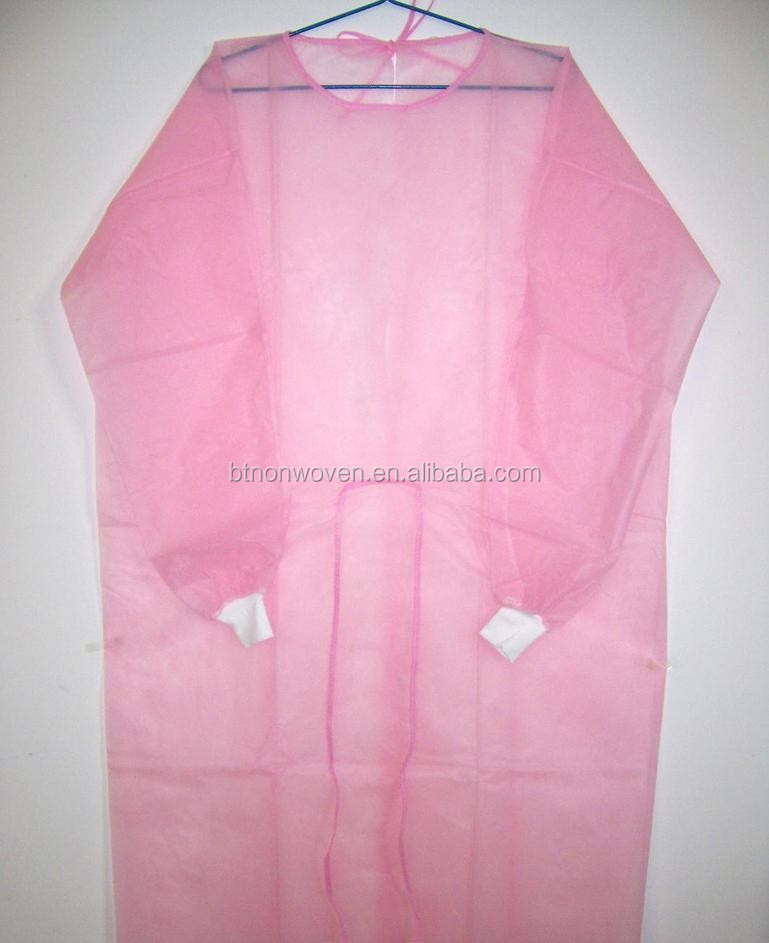 High Quality Disposable white SMS Protection Gown/coverall/coat with side For Medical & Industrial Use