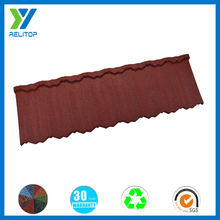 Lightweight french red color sand stone coated metal steel roofing tiles