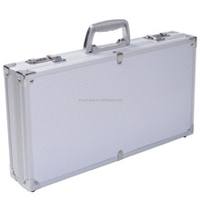 "18.5"" Aluminum Framed Locking Gun Pistol HandGun Lock Box Hard Storage Carry Case"