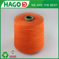 Ne 16s combed cotton knitted polyester yarn dyeing factory for socks