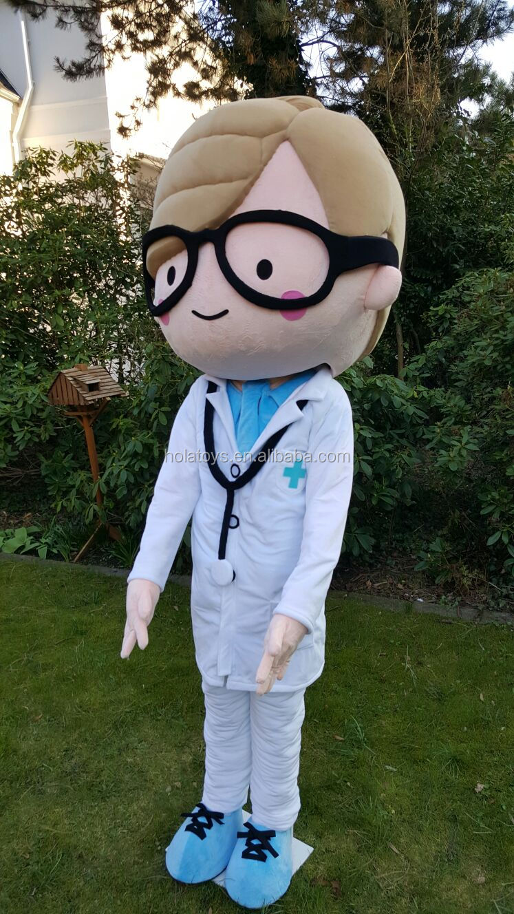 Hola doctors mascot costume/lovely custom mascot costumes for sale