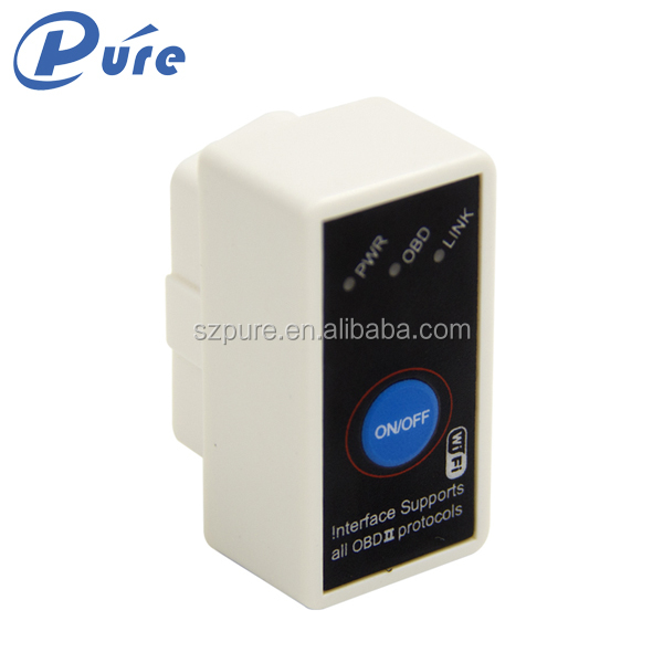 New Arrival Code reader Diagnostic Tool Super Mini ELM327 WiFi with Switch work with IOS OBD-II OBD Can