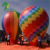 PVC Colorful Inflatable Hot Air Shaped Ground Balloon for Advertising