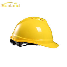 Cheap Custom fuxing electrical engineering orange safety helmet