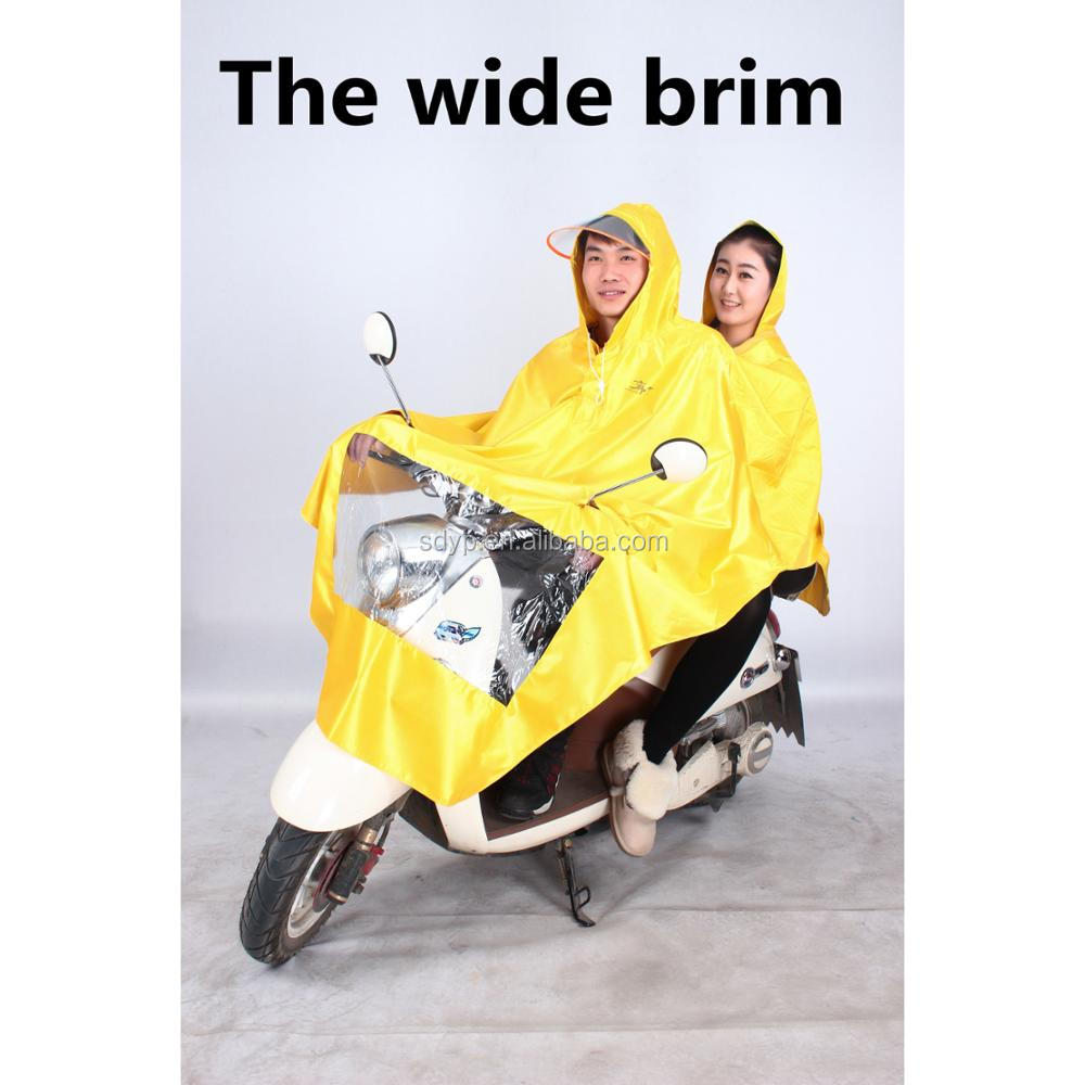 Popular yellow rain coat, adult PVC long raincoat