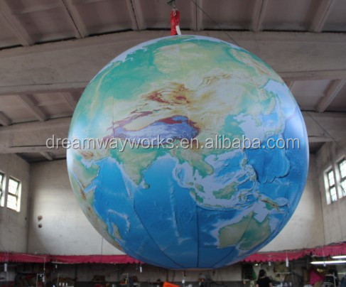2016 New inflatable earth globe, inflatable earth ball, inflatable world map ball
