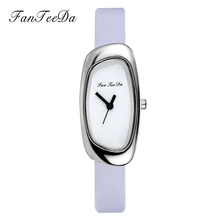 FanTeeDa 2017 Top Brand Women Watches Thin Leather Strap Silver Luxury Quartz Alloy Dress Casual Quartz Ladies Watch