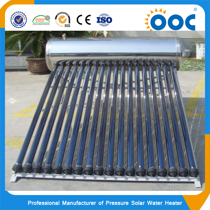 Factory direct solar thermal 316 stainless steel pressurized solar system for home use