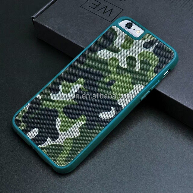 Army green pattern leather+pc phone case for ihpone 7