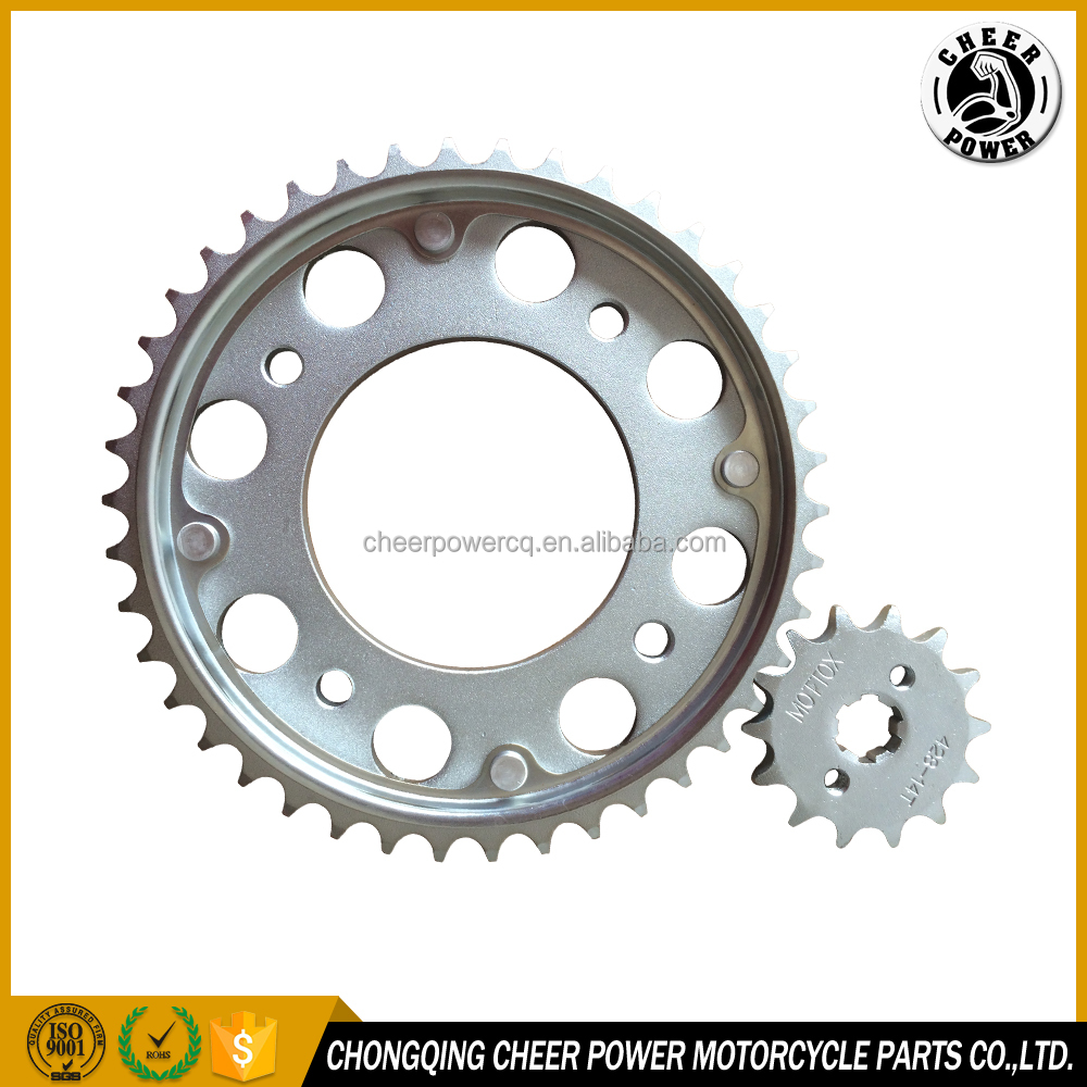 "MOTORCYCLE FRONT AND REAR SPROCKET FINAL DRIVEN ASSY 428H 42T 14T KIT DE TRANSMISION 428 42 14D for "" HONDA CB110"""