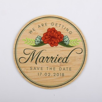 Wood printing card save the date card wedding invitation card