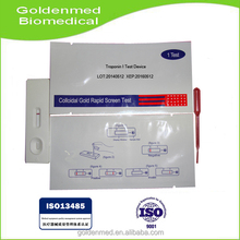 One Step Troponin I Test Device (Whole Blood/Serum/Plasma) with high precision and good factory low price
