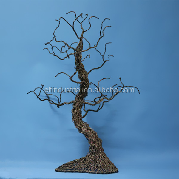 party supplies China factory halloween tabletop lighted metal tree party accessory