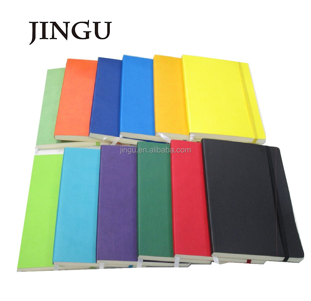 A5A6 colorful soft cover thermo pu notebook with elastic band
