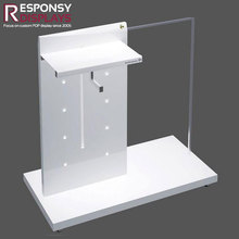 Customized Garment Display Rack Floor MDF Clothes Stand