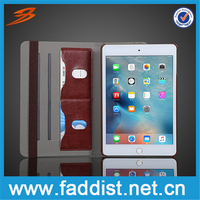 China Alibaba Card Slot Leather Case For iPad Mini 4 with stand function